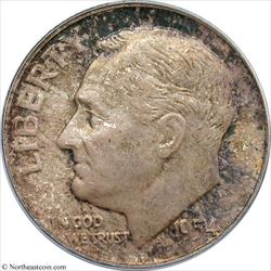 1954 Roosevelt Dime PCGS MS65