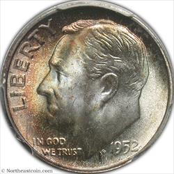 1952-S Roosevelt Dime PCGS MS67+ FB