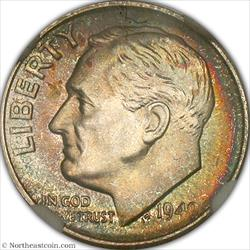 1949-S Roosevelt Dime NGC MS66+