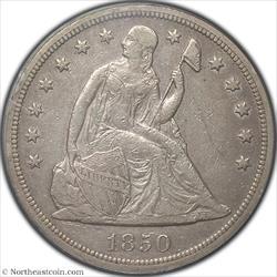 1850-O Seated Dollar PCGS XF40