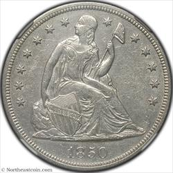 1850-O Seated Dollar NGC AU53
