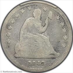 1842-O Small Date Seated Quarter PCGS G6