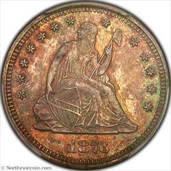 1876-S Seated Quarter PCGS MS64
