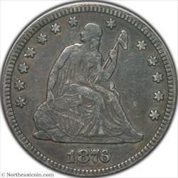 1876-CC Seated Quarter ICG VF20