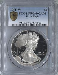1995-S Silver Eagle PCGS PR69DCAM