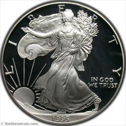 1995-W Silver Eagle PCGS PR70DCAM