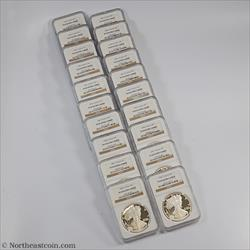 1986-2005 20 Coin Set Silver Eagle NGC PF69UCAM