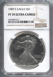 1989-S Silver Eagle NGC PF70UCAM
