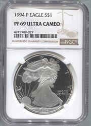 1994-P Silver Eagle NGC PF69UCAM