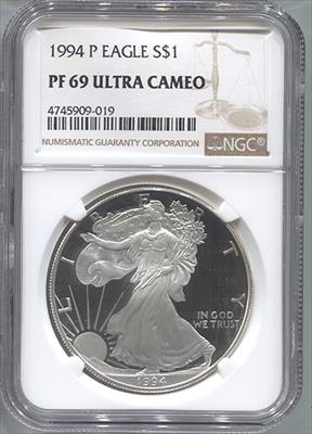 1994-P Silver Eagle NGC PF69UCAM