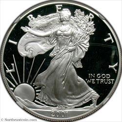 2001-W Silver Eagle NGC PF70UCAM