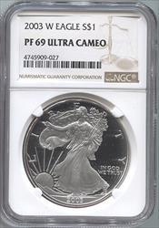 2003-W Silver Eagle NGC PF69UCAM