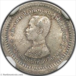 1876-1900 (ND) 1/8 Baht Thailand NGC MS63