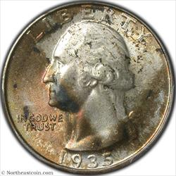 1935 Washington Quarter PCGS MS64