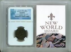 (1710-13)D  30D FRENCH COLONIES NEW WORLD HOARD NGC