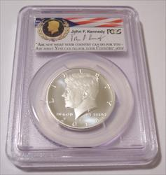 2014 S Silver Kennedy Half Dollar Enhanced MS70 PCGS FS