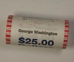 2007 George Washington Presidential Dollar Roll BU 25 $ Coins *Mint Mark Unknown