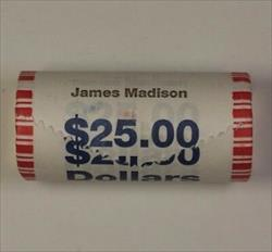 2007 James Madison Presidential Dollar Roll BU 25 Coins Total *Mint Mark Unknown