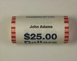 2007 John Adams Presidential Dollar Roll BU 25 $1 Coins *Mint Mark Unknown* OBW