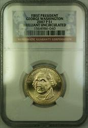 2007-P George Washington First President Presidential Dollar NGC BU