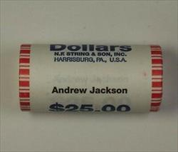 2008 Andrew Jackson Presidential Dollar Roll BU 25 $1 Coins *Mint Mark Unknown*