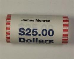 2008 James Monroe Presidential Dollar Roll BU 25 $1 Coins *Mint Mark Unknown*