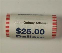 2008 John Quincy Adams Presidential Dollar Roll BU 25 $1 Coins Mint Mark Unknown