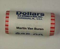 2008 Martin Van Buren Presidential Dollar Roll BU 25 $1 Coins *Mint Mark Unknown