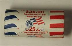 2008-D James Monroe Presidential Dollar Roll BU 25 $1 Coins Original Bank OBW