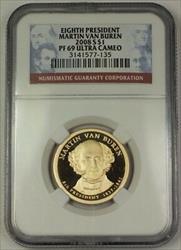 2008-S US Martin Van Buren Presidential Dollar Coin $1 NGC  Ultra Cameo