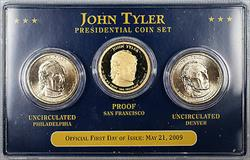 2009 John Tyler Presidential Coin Set First Day of Issue $1