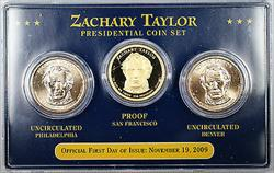 2009 Zachary Taylor Presidential Coin Set First Day of Issue $1