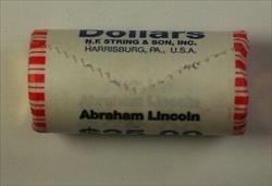 2010 Abraham Lincoln Presidential Dollar Roll 25 $1 Coins *Mint Mark Unknown OBW