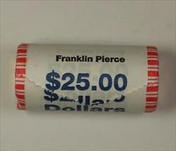 2010 Franklin Pierce Presidential Dollar Roll BU 25 $1 Coins *Mint Mark Unknown*
