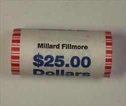 2010 Millard Fillmore Presidential Dollar Roll BU 25 $ Coins *Mint Mark Unknown*