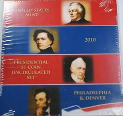2010 P & D Presidential $1 Uncirculated 8 Coin Set Original Government Packaging