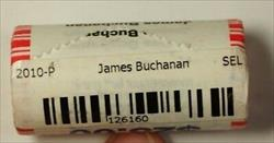 2010-P James Buchanan Presidential Dollar Roll BU 25 1$ Coins Bank Wrapped OBW