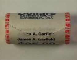 2011 James A Garfield Presidential Dollar Roll 25 $1 Coins *Mint Unknown* In OBW