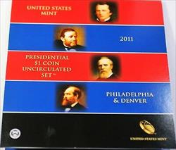 2011 P & D Presidential $1 Uncirculated 8 Coin Set Original Government Packaging