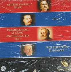 2012 P & D Presidential $1 Uncirculated 8 Coin Set Original Government Packaging