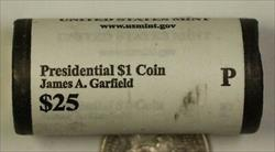 2012-P James A Garfield Presidential Dollar Roll BU 25 1$ Coins Bank Wrapped OBW
