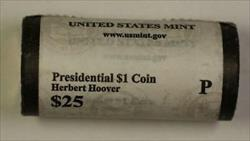2014-P Herbert Hoover Presidential Dollar Roll BU 25 1$ Coins Bank Wrapped OBW