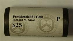 2016-P Richard M. Nixon Presidential Dollar Roll BU 25 1$ Coins Bank Wrapped OBW