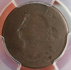 1808 Draped Bust Half Cent Mint Error Full Brockage OBV. Cohen 3 PCGS