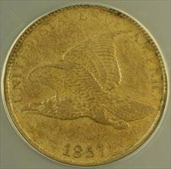 1857 Flying Eagle Cent 1c ANACS
