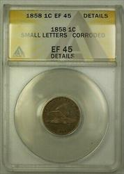 1858 Flying Eagle Cent, ANACS  Details Corroded (23)