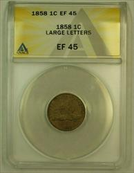 1858 Large Letters Flying Eagle Cent 1c ANACS  (XF)