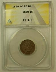 1859 Indian Head Cent 1c ANACS
