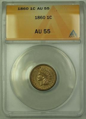 1860 Indian Cent Penny 1c Coin ANACS  (Better Coin) RJS