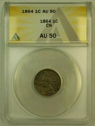 1864 CN Indian Head Cent 1c ANACS